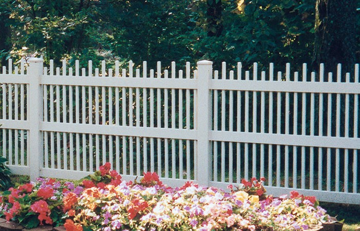 Clayton Vinyl Picket Fence Picture