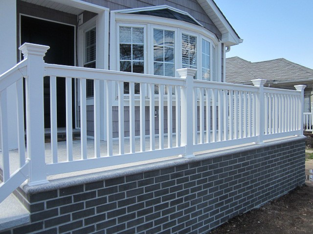 White vinyl railing picture