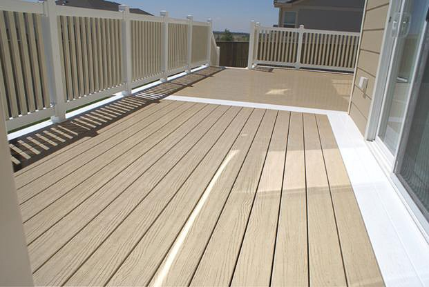 PIcture of embossed vinyl decking