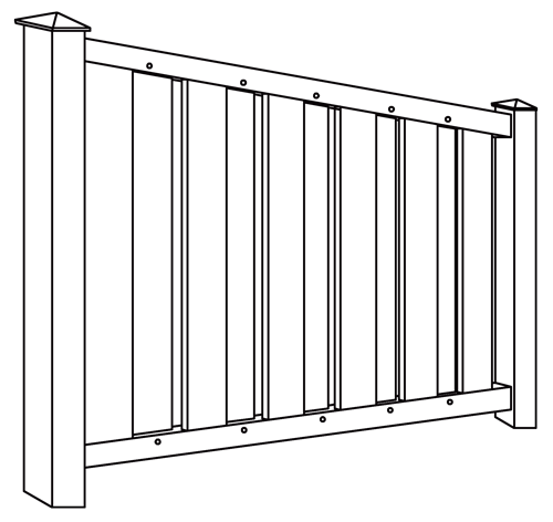 Melbourne Privacy Fence Line Drawing