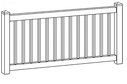 Pacific Diamond Picket Fence Line Drawing