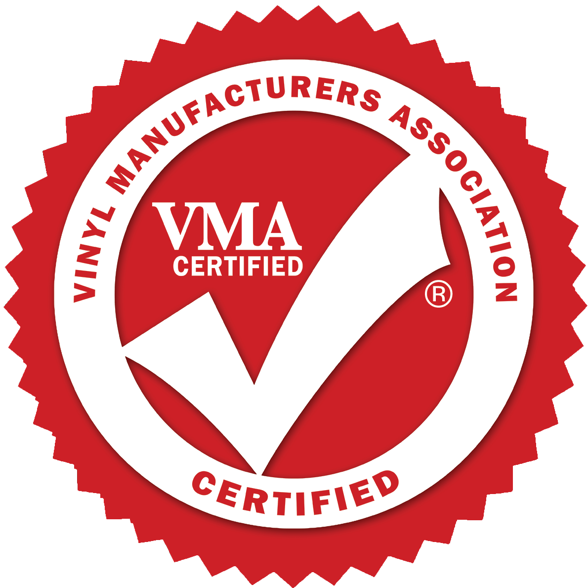 Vinyl Manufacturers Association certified logo