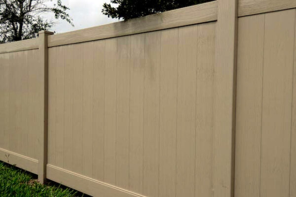 Adobe embossed Lakeland vinyl fence picture