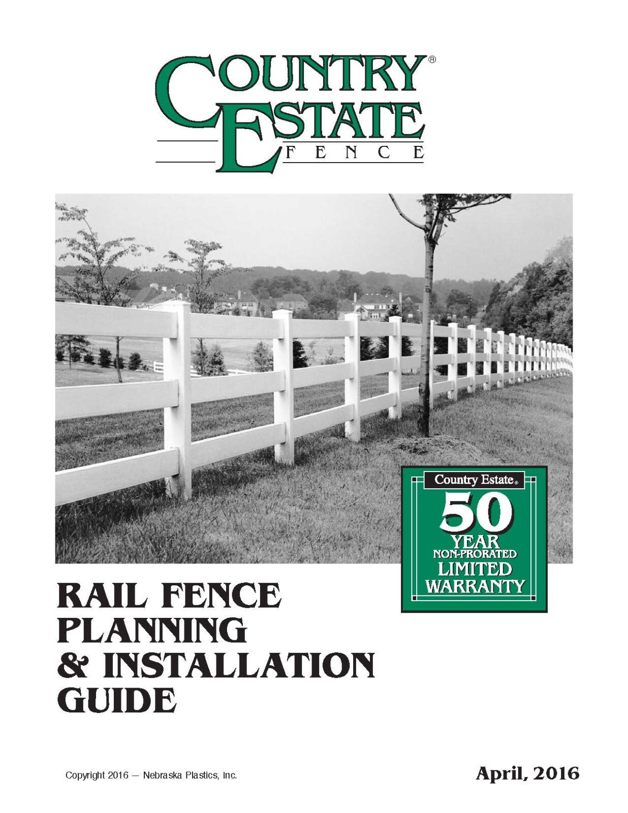 Vinyl Rail Fence Installation Guide cover