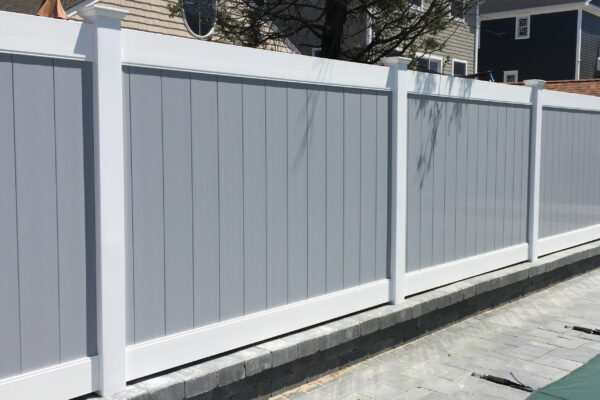 Gray and white Lakeland Privacy fence