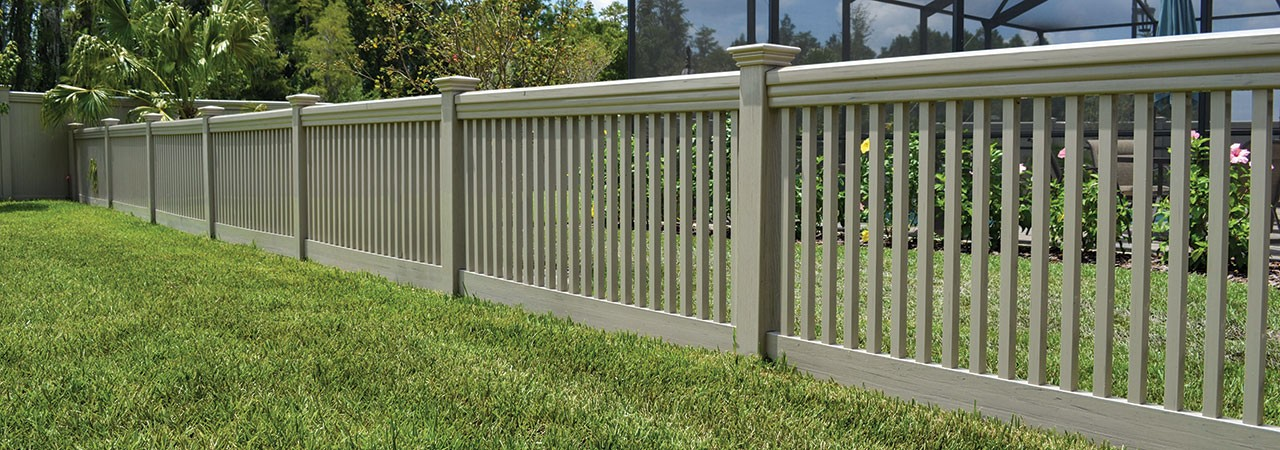 Malibu Streaked and Embossed Vinyl Fence Picture
