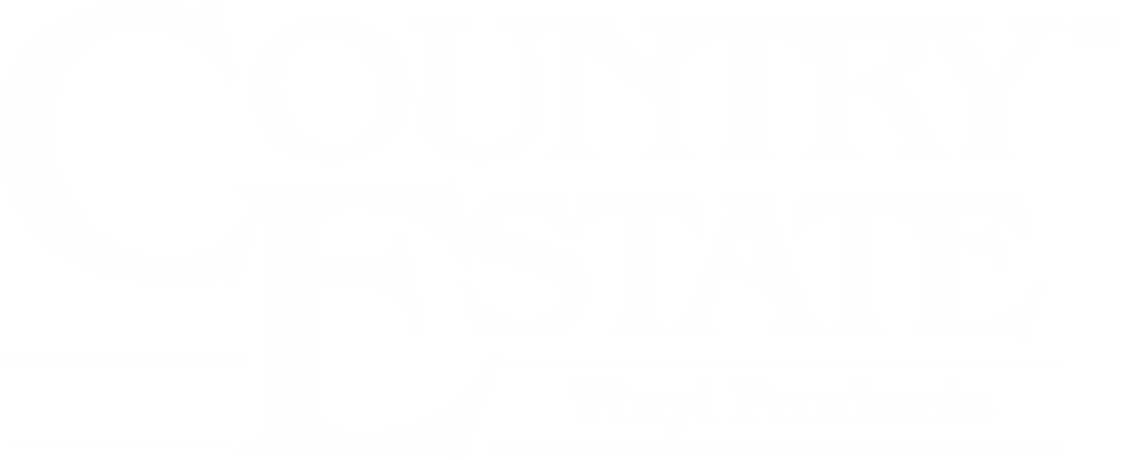 Country Estate Vinyl Products Logo in white