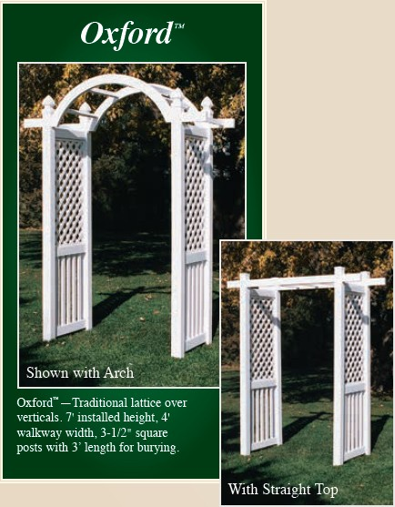 Picture of Oxford style vinyl arbor