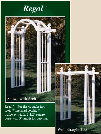 Picture of Regal style vinyl arbor