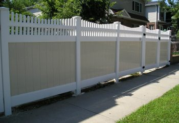 Montauk Point Scallop Vinyl Fence Picture