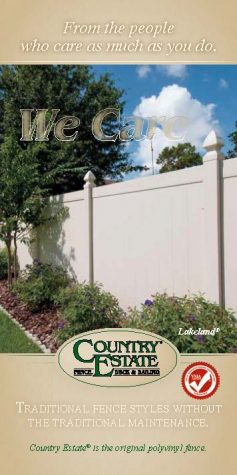 Residential Fence Brochure Cover